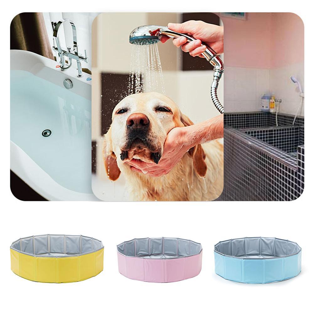 Animal de compagnie piscine chien chat baignoire Pet pliant baignoire piscine couleur aléatoire