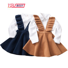 2-8Yrs Autumn Baby Girls Dress Fashion Girl Clothing Knit Sweater Kids Dresses for Girls Solid Sleeveless School Uniform Vestido(China)