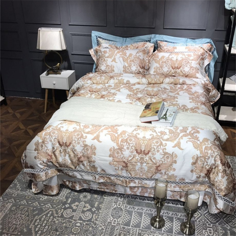 cotton boho style bedding sets pure white queen king size wedding home textiles bed sheets. Black Bedroom Furniture Sets. Home Design Ideas