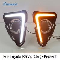 SMRKE DRL For Toyota RAV4 RAV 4 RAV 4 2015~Present / Car Daytime Running Lights & Cornering Signal Lamp / 2 color Car Styling