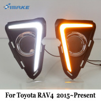 SMRKE DRL For Toyota RAV4 RAV 4 RAV 4 2015~Present / Car Daytime Running Lights & Cornering Signal Lamp / 2 color Car Styling