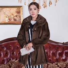 Genuine Mink fur coat winter Natural Real Fur coat for wome thick top quality Loose true Fur coat women fur coat outwear hot