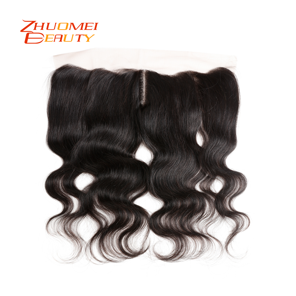Brazilian Hair Body Wave Lace Frontal Closure Ear to Ear Pre Plucked 13x4 Swiss Lace Middle