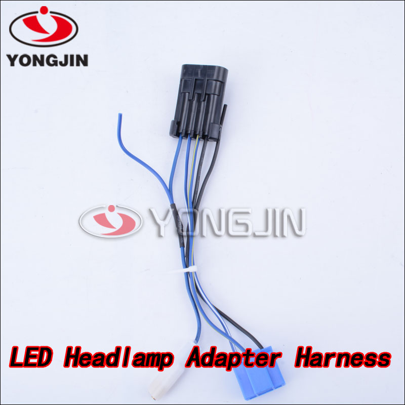 harley headlight wiring harness harley image shipping motorcycle led headlamp headlight wiring harness for on harley headlight wiring harness