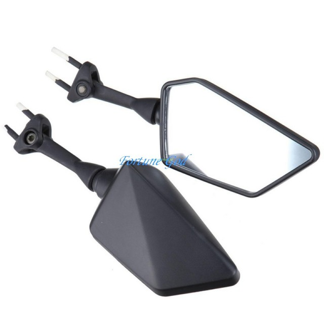 Black Left Right Rear View Mirrors For KAWASAKI NINJA 2008-2013 09 10 250R EX250