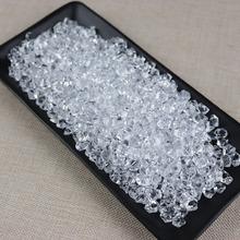Jedno opakowanie zawiera 430 kapsułek dekoracyjne kostki lodu symulacja kostki lodu fałszywe kostki lodu wyświetlacz kostki lodu z tworzywa sztucznego dekoracyjne tanie tanio