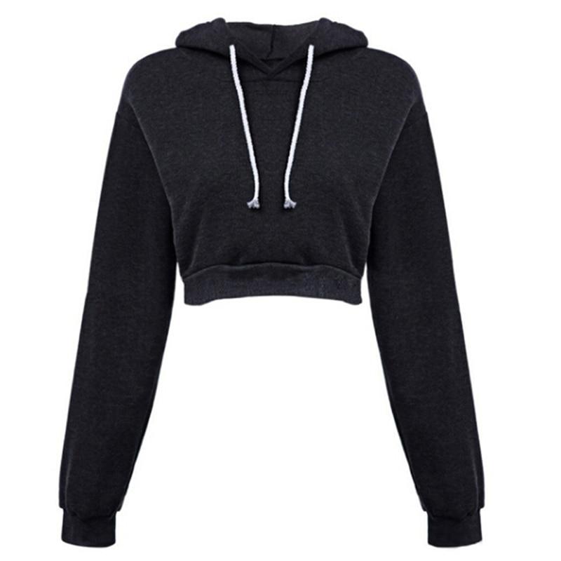 women's hoodies sweatshirt Hip hop Hooded casual cropped tops streetwear sweatshirt pullover sudadera mujer Bigsweety