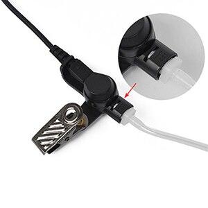 Image 4 - 3.5mm משטרת להקשיב רק אקוסטית צינור אפרכסת עם זוג אחד בינוני שני בדרך עבור מיקרופוני רמקול