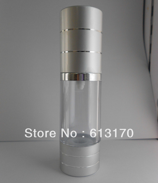 30ml silver foil tangent vacuum airless bottle essence eye cream cosmetics bottle Free shipping