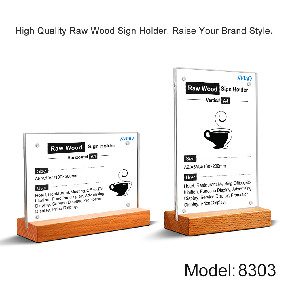 A4 Restaurant Hotel Countertop Display Table Menu Hoder Sign Holder Stand For Brochure Holder Paper Display Poster Frame Stand
