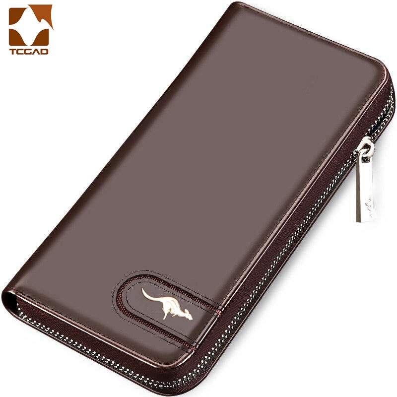 Männer wallet Armband leder geldbörse männlichen kupplung designer berühmte Marke brieftasche billetera hombre cuero leder echtes portomonee
