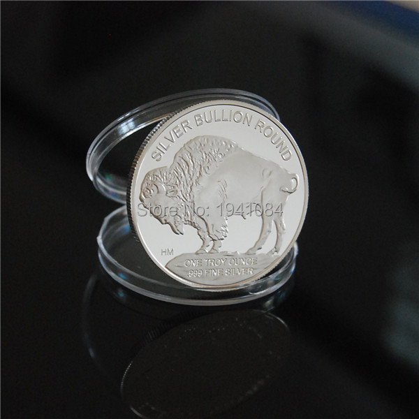 2015 Indian//Buffalo BU 1 oz .999 Silver Round-LIMITED USA MADE AMERICAN COIN