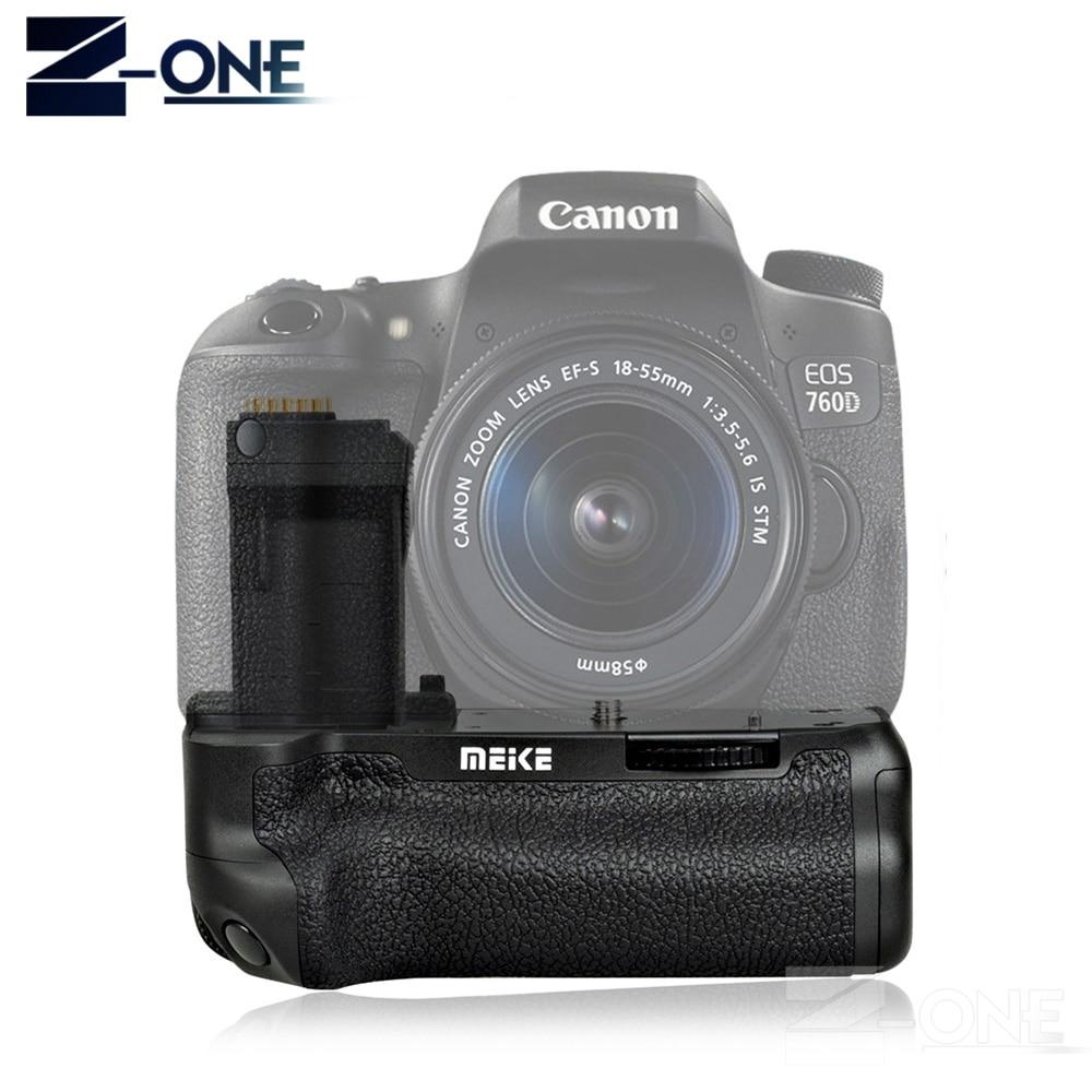 MEIKE MK-760D Batterie Vertical Holder Grip pour Canon 750D 760D LP-E17 comme BG-E18 Caméra Batterie Poignée pour Canon 750D 760D