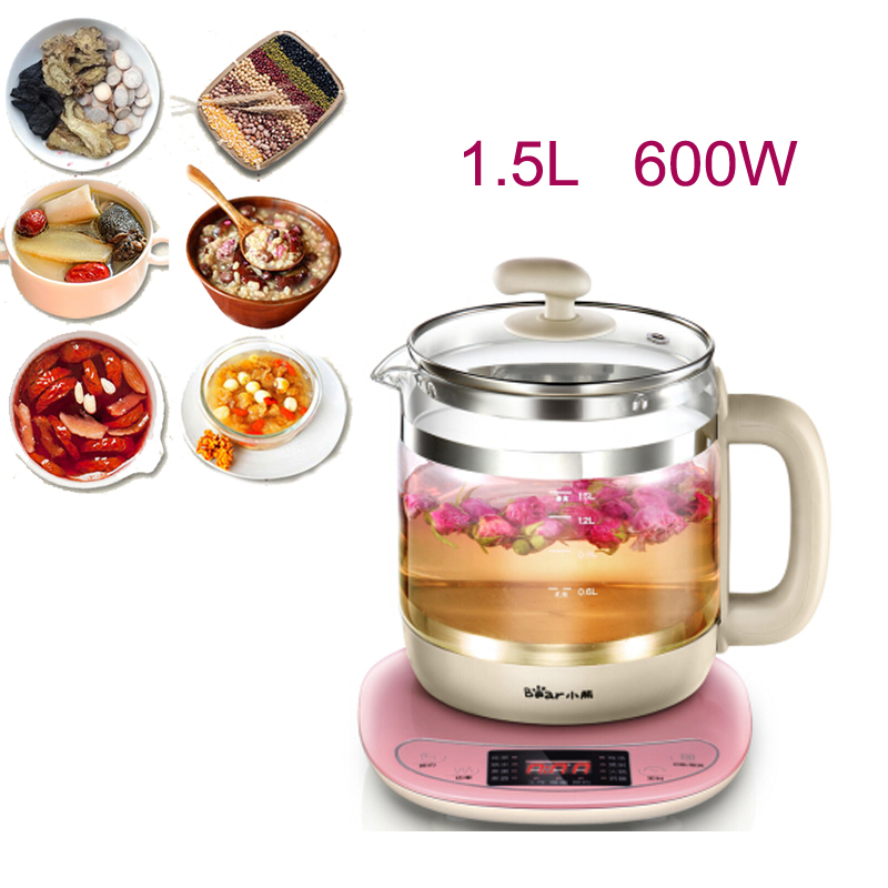 15% JA35,1.5L Split Type Health Preserving Pot Thick Glass Electric Kettle Microcomputer Control Anti-dry Protection 10h Timing цены онлайн