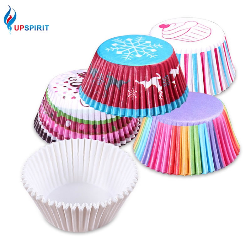 100Pcs Fine Chocalate Paper Liners Baking Muffin Cake Cupcake Cases Solid Color