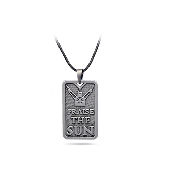 Dark Souls Necklace praise the sun Solaire of Astora Pendant Rope Chain Necklaces Women Men Charm colar Gifts Game Jewelry image