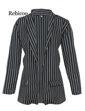 2019 New Arrival Women Early Autumn Striped Long Sleeve Casual Coat Suits Ladies striped suit Blazers women Jacket Hot
