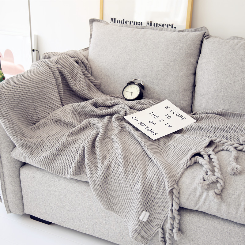 Etonnant Nordic Style Casual Tassel Knitted Blankets For Beds Cobertor Pink Throws  For Sofa Bed Cover Plaids Bedpread Home Textile 2018 In Blankets From Home  ...