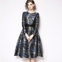 8e2d1cfc7 Spring New 2019 Women Dresses Lace Stitching Chiffon Fashion Party Dress  Long Sleeve High End Jacquard