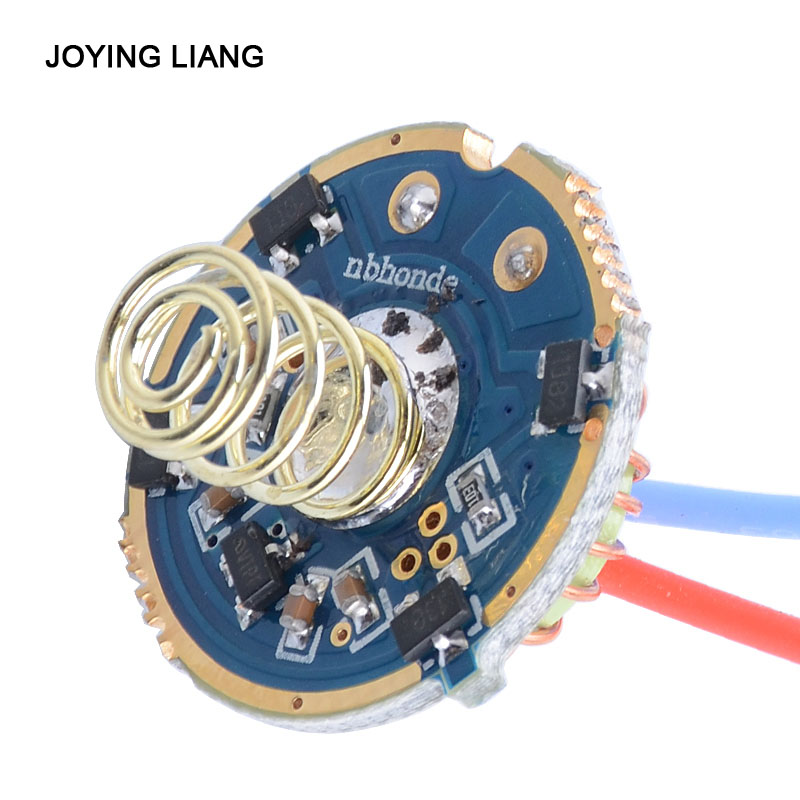 JYL-9802 T6U2 Magnetic Control Drive Plate Board Flashlight Repair Accessories 5 Modes 2x18650 7.4V Switch Circuit Board 22mm