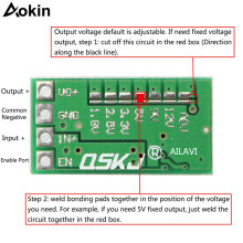 Ultra Kecil Mini DC-DC Step Down Power Supply Modul 3A Buck Converter Adjustable 1.8V 2.5V 3.3V 5V 9V 12V untuk Arduino DIY Kit(China)