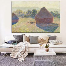 Claude Monet Winter on Morning Hay Stack Oil Painting on Canvas Art Wall Picture Poster for Living Room Sofa Cuadros claude monet oil painting print on canvas a man was painting on a boat wall art for office living room decoration artwork gift