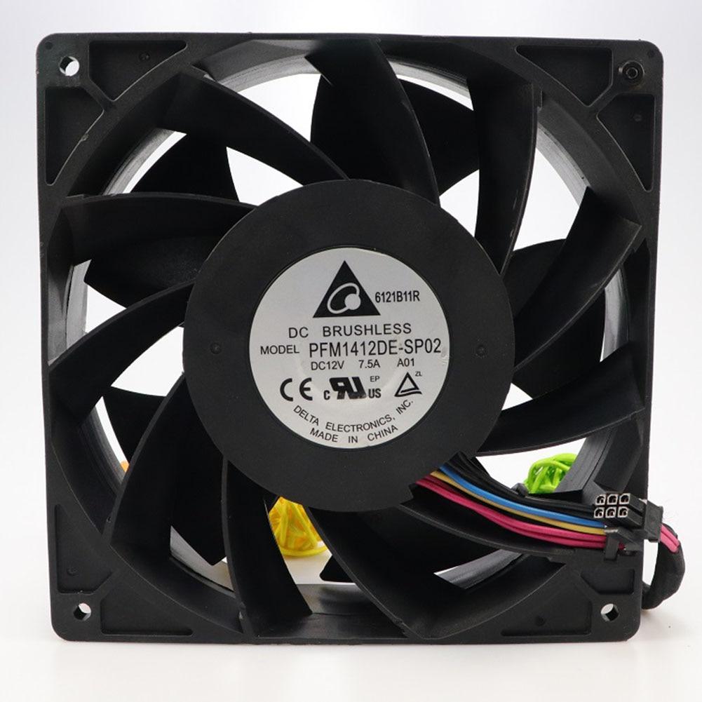 For Delta PFM1412DE 4pin 140*38mm 12V 5.04A cooling fan delta bfb0712hhd sm04 603 6923 12v 0 45a for apple 20 imac optical drive fan