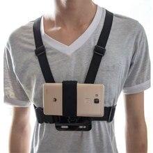 Universel téléphone aspiration sangle de maintien poitrine harnais sangle support de téléphone tête/poignet sangle monopode pour iPhone Huawei Samsung