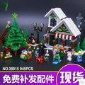 Nueva LELE 39015 bloques de construcción de Juguete CREADOR mi mundo Navidad cabaña de invierno tienda de juguetes Cenicienta 10249 Figuras regalo de Ladrillo 945 unids