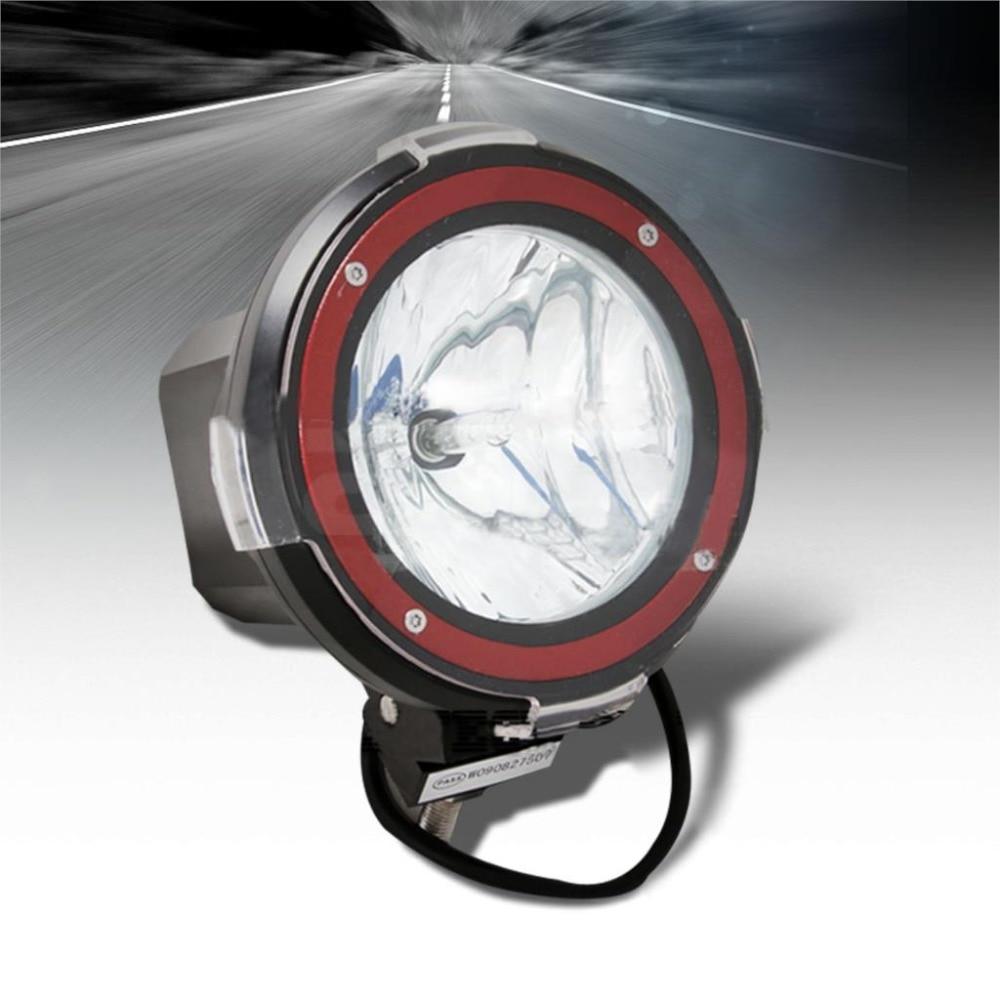 1шт 7-дюймовый 4x4 внедорожного 55ВТ 6000К супер яркий внедорожник фары вспомогательные лампы прожектора на крыше, Ксеноновые лампы