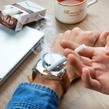 Military USB Flameless Windproof Cigarette lighter Watch Men Electric Rechargeable USB Watch Lighters Men's Wristwatch No Gas 40