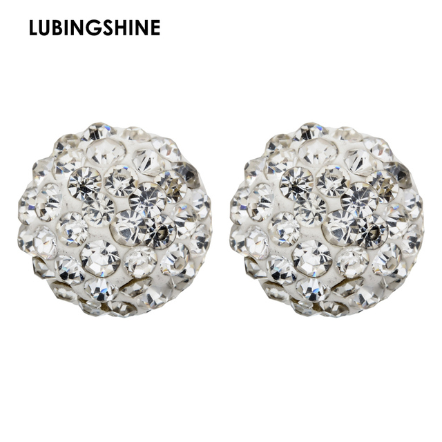 Free Shipping Flatback Half Crystal Disco Ball Rhinestone Earrings Stud Boutique Fashion Studs Earring 10mm Ze07
