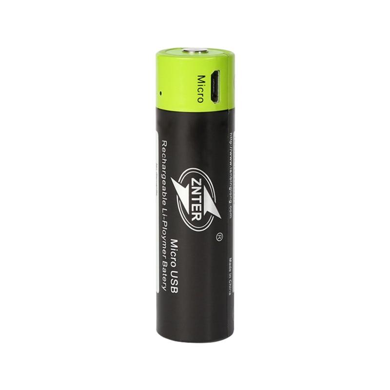 ZNTER Original 18650 Battery 3.7V 1500MAH USB Rechargeable Battery Power Bateria Lithium Pilhas Recarregaveis AA Batteries