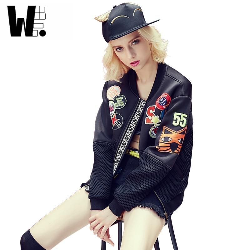 2017 nueva moda estilo BF chaqueta de las señoras mujeres bomber jacket coat oto