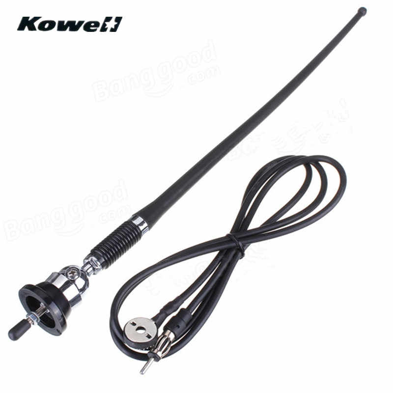 KOWELL 36cm Universal Rubber Car Auto Roof Fender Antenna Signal Booster Amplifier Aerials Whip Mount Mast for Volkswagen VW