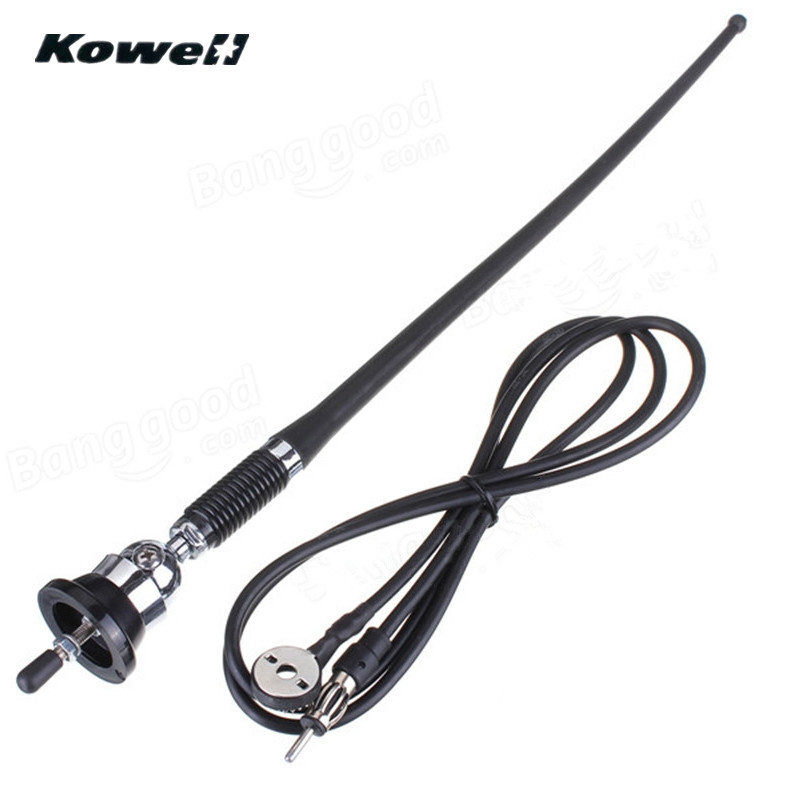 KOWELL 36cm, antena Universal de goma para coche, Auto guardabarros, amplificador de señal, antenas, mástil de montaje de látigo para Volkswagen VW Superbat 698-960/1710-2170/2500-2600MHz 4G LTE, antena 5dbi CRC9, amplificador de Clip para teléfono móvil, enchufe aéreo macho para módem Huawei USB