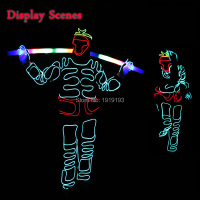 Fancy Dress Accessory Decor EL Thread New Years Day Decor Led Neon Light Bar Night Holiday Lighting Monkey King for Movie Club