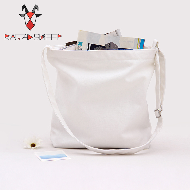 Raged Sheep Fashion Tote Shopping Bags Cotton Grocery Bags Folding Adjust Belt Shopping Cart Eco Grab