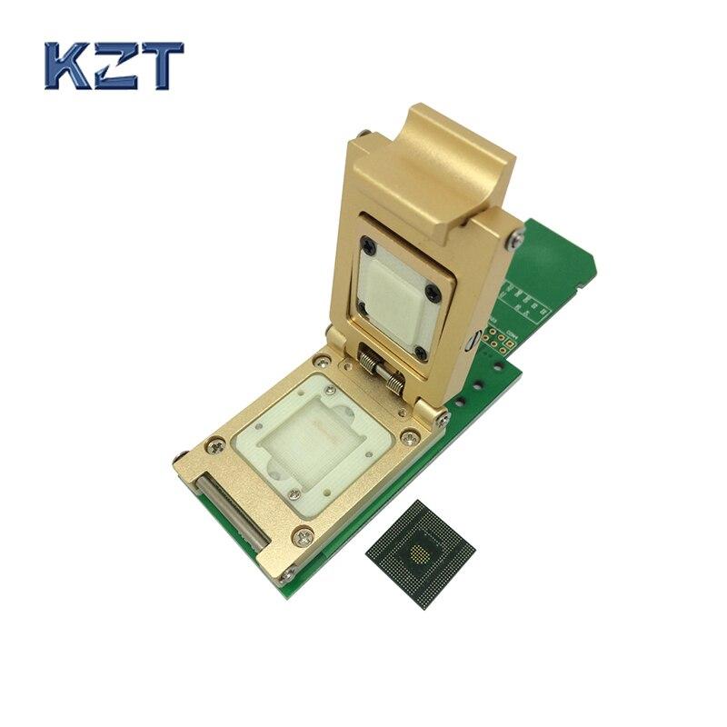 EMCP529 BGA529 Pogo Pin Prova Socket Reader Passo 0.5mm IC Dimensione 15X15mm Per KMR210008M-A805 SAMSUNG Note4 Flash Data Recovery