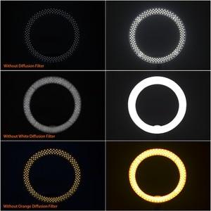 Image 3 - FOSOTO 18 אינץ led טבעת אור צילום מנורת Selfie Ringlight Led טבעת מנורה עם חצובה Stand עבור איפור Youtube Tiktok