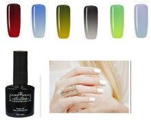 hi show 10MM 24 color temperature in good quality nail polish glue,  nail gel uv polish temperature color changing nail gel poli