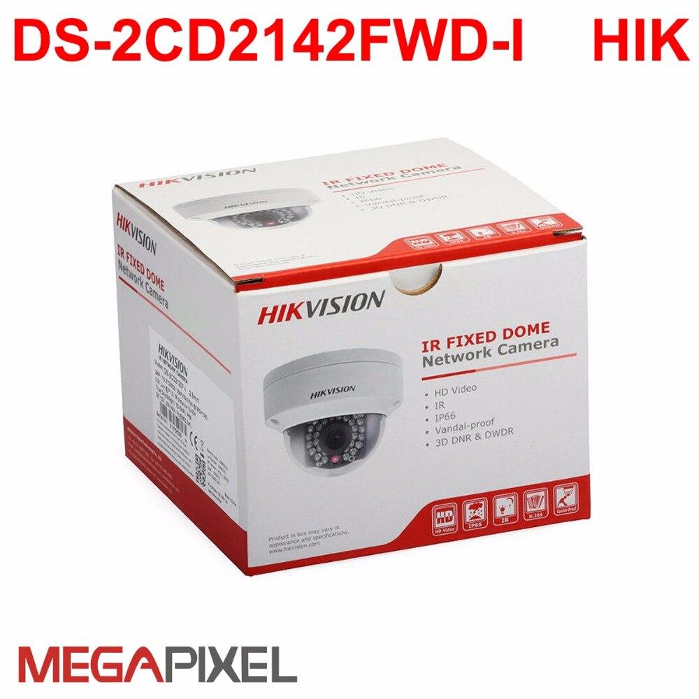 цена cctv Video Surveillance security ip camera Hikvision PoE 4mp Camcorder home protection Cam HD 1080p DS-2CD2142FWD-I IR Dome p2p онлайн в 2017 году