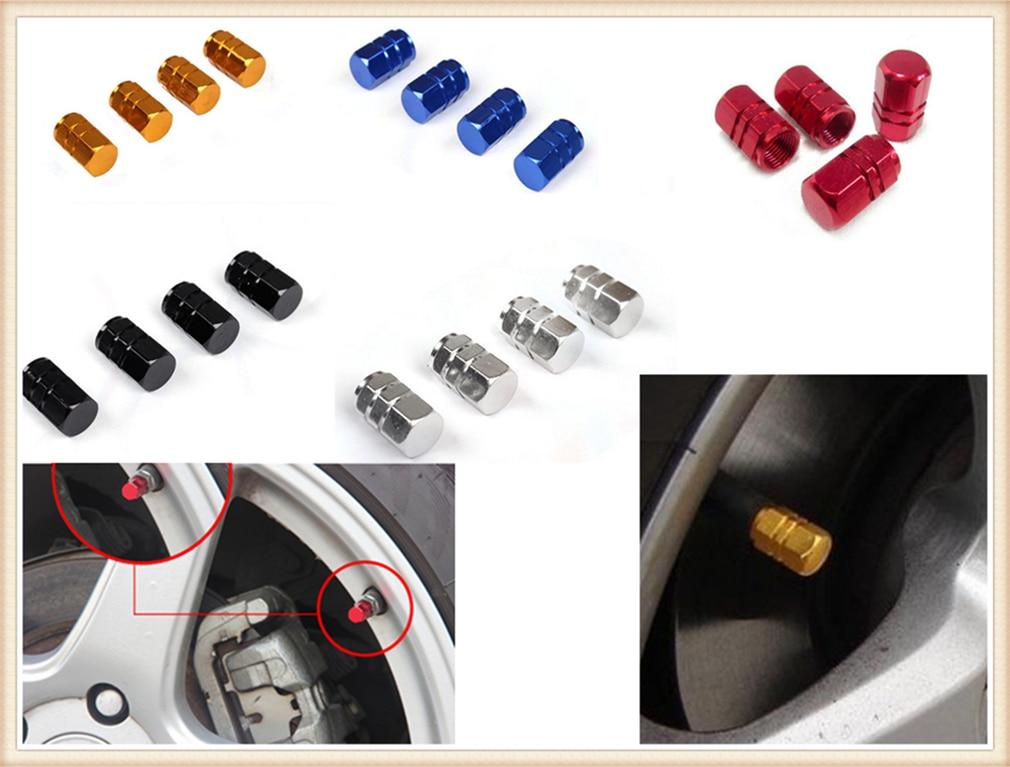 Automobile Tire Cap Aluminum Alloy Valve Cover Valve Core For Volkswagen VW POLO Golf 4 Golf 6 Golf 7 CC Tiguan