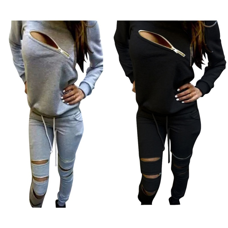 Winter Women Tracksuit Casual Sweatshirt Sport Hoodies Top Coat+Trousers