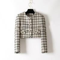 Женские элегантные офисные куртка, большие размеры твидовое пальто, дамы Chaquetas Mujer, уникальный jaqueta feminina, Женское пальто, 6XL зимняя куртка
