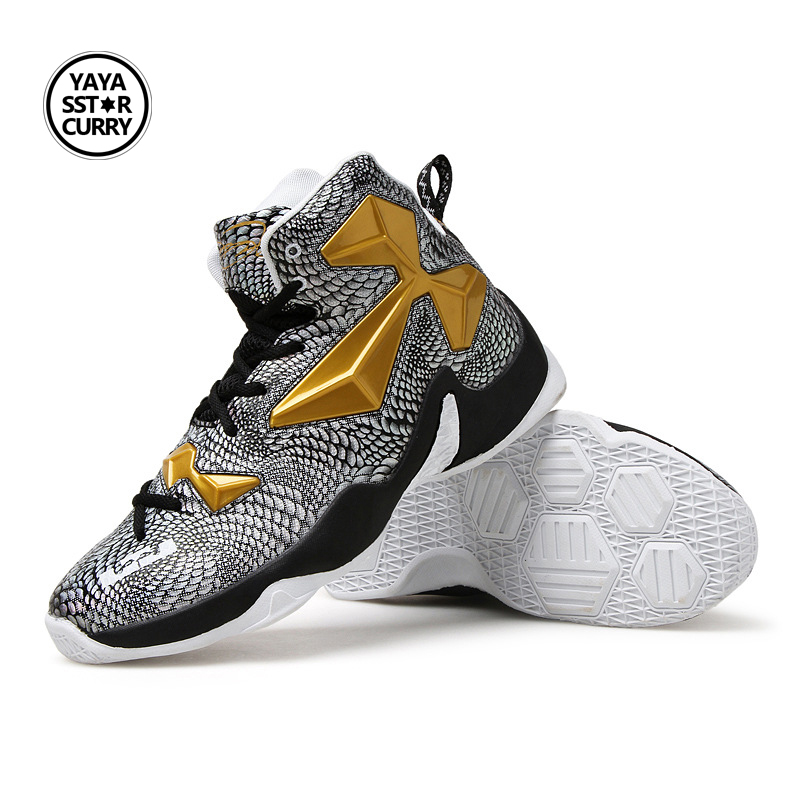 Men Basketball Shoes Snakeskin Texture Men Basketball Sports Sneakers Basketball Sneakers Male Outdoor Jordan Shoes Basket Homme