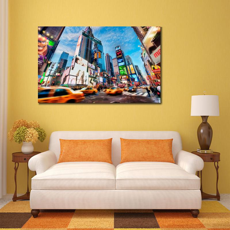 Modern Poster Times Square New York Canvas Printings Wall City Art Prints For Living Room