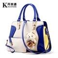 100% Genuine leather Women handbags 2016 New tide bag color smile package bear Crossbody Shoulder Handbag Fashion handbag