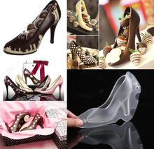 1PC New 3D Chocolate Mold High Heel Shoes Molds Cake Decorating Tools DIY Home Baking Pastry Lady Shoe Moulds LB 387