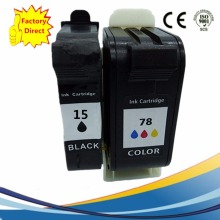 2x Reman Ink Cartridges For HP 15 78 XL HP15 HP78 Officejet 5110 5110A2l 5110v 5110xi Series  G55 G55XI G85 G85XI Inkjet Printer